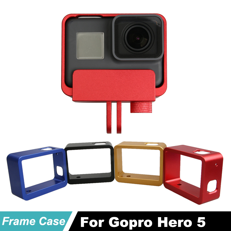 Hero 5 Metal Protective Frame Housing Aluminum Border case for Gopro Hero5 Black 6 7 action Camera Accessories