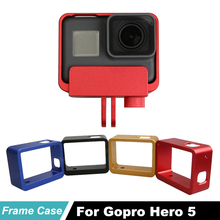 цена на Hero 5 Metal Protective Frame Housing Aluminum Border Frame case for Gopro Hero5 Black Hero 6 Hero 7 action Camera Accessories