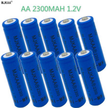 16pcs AA 2300mAh 2V Ni-MH Rechargeable Batteries 2A Neutral Battery for Remote control Toys LED lights