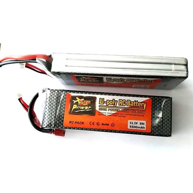 New Arrival ZOP Power 11.1V 5500mAh 3S1P 35C Lipo Battery For RC Model T Plug