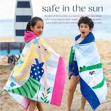Детские банные полотенца с героем мультфильма, удлиненный плотный плащ с капюшоном, пляжное полотенце, Впитывающее Влагу, купальный халат для купания для мальчиков и девочек