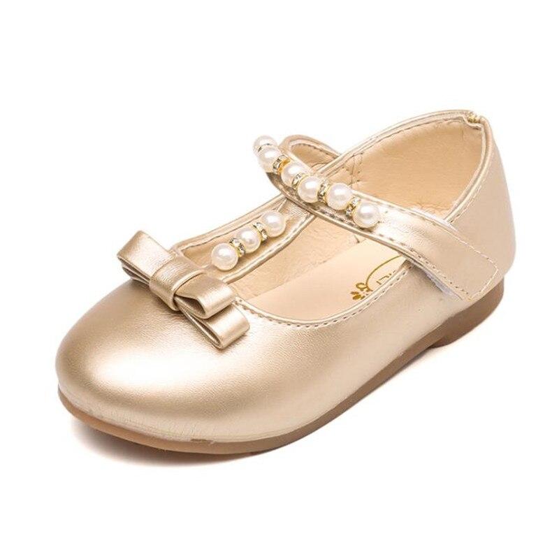 HaoChengJiaDe Children Princess Shoes Girls Sequins Beads Kids Dress Shoes For Girls Silver / Gold Shoes Kids Fashion Flat Baby