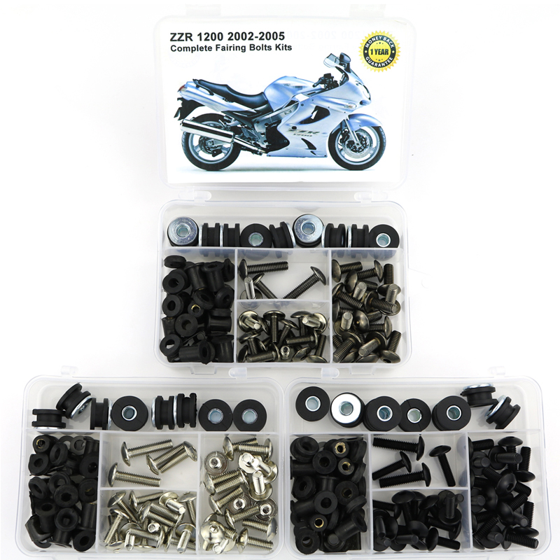 Covering Kawasaki Full-Fairing-Kit 2002-2005 For ZZR Bolts-Kit Steel Oem-Style Clips-Screws