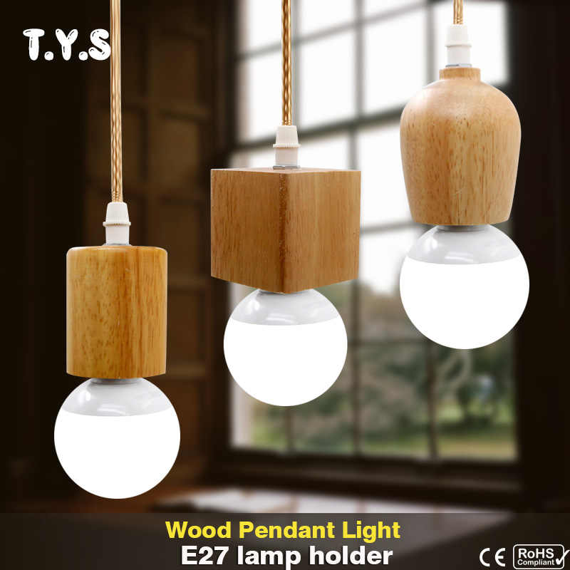 Wood Pendant Light Suspension Luminaire Modern Led Pendant Lamp Hanging Light Home Deco Lighting Kitchen Fixtures Dining Room