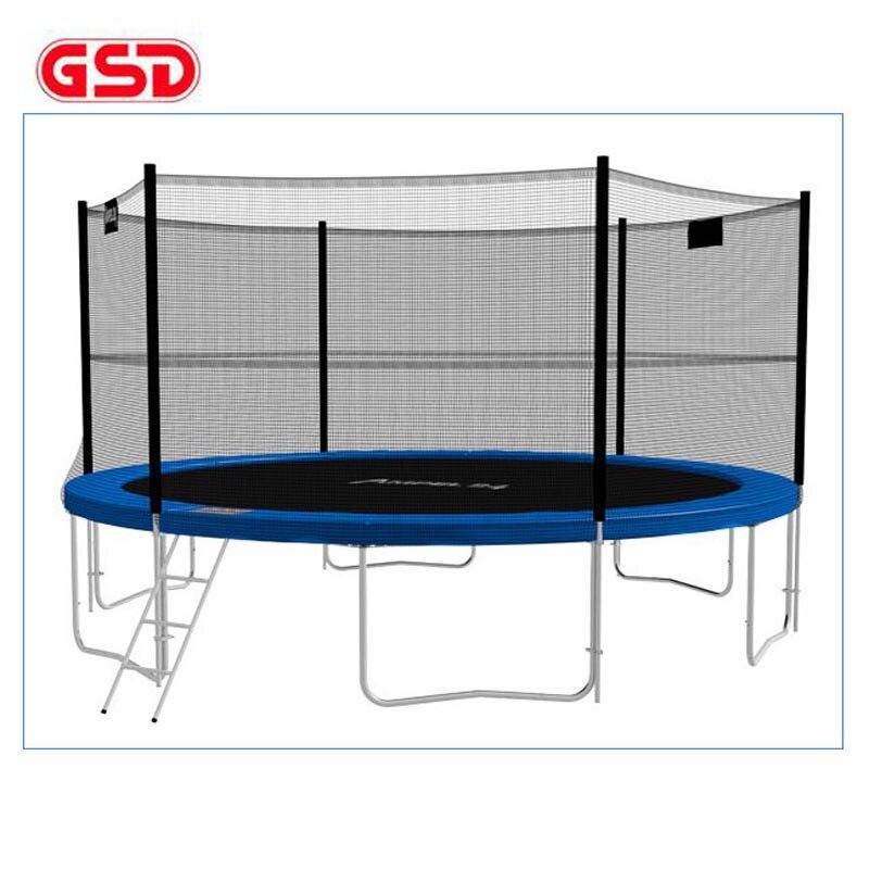 GSD Hochwertiges 12-Fuß-Frühlingstrampolin für Erwachsene mit Sicherheitsnetz und Leiter TÜV-GS, CE wurde genehmigt