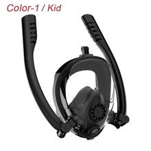2019 New Design Double Snorkels Advanced Breathing System Diving Mask Mask Underwater Anti Fog Full Face Snorkeling Mask