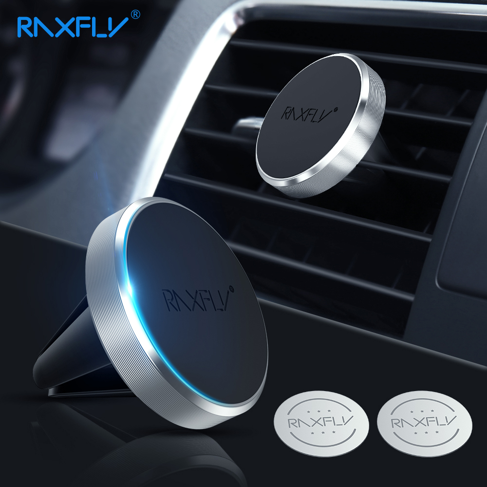 RAXFLY Magnet Car Holder For Samsung S9 Note 8 9 Phone Stand Air Vent Magnetic Car Phone Holder In Car For Xiaomi Redmi Note 7 4