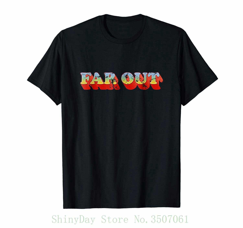 Рубашка Far Out в винтажном стиле 70 s футболка ретро с отворотами качественные
