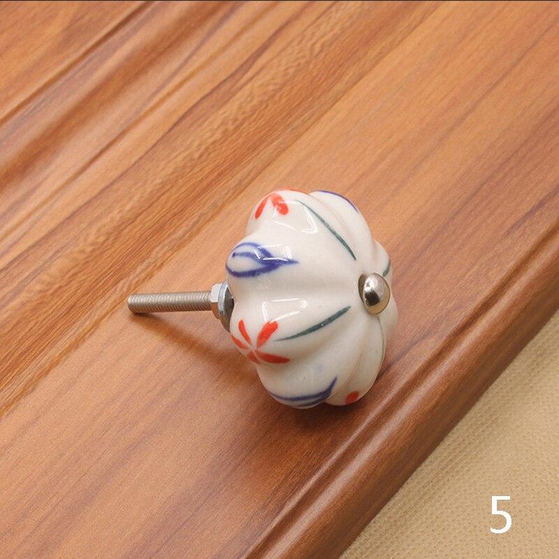Мебельная фурнитура 40 мм ручка для мебели керамические ручки для ящиков шкафа и ручки дверный шкаф кухонные ручки - Цвет: 5