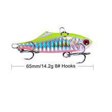 1PCS 6cm 14g VIB Fishing Lures Hard Bait Vibration Crankbait Fish Bass Sinking