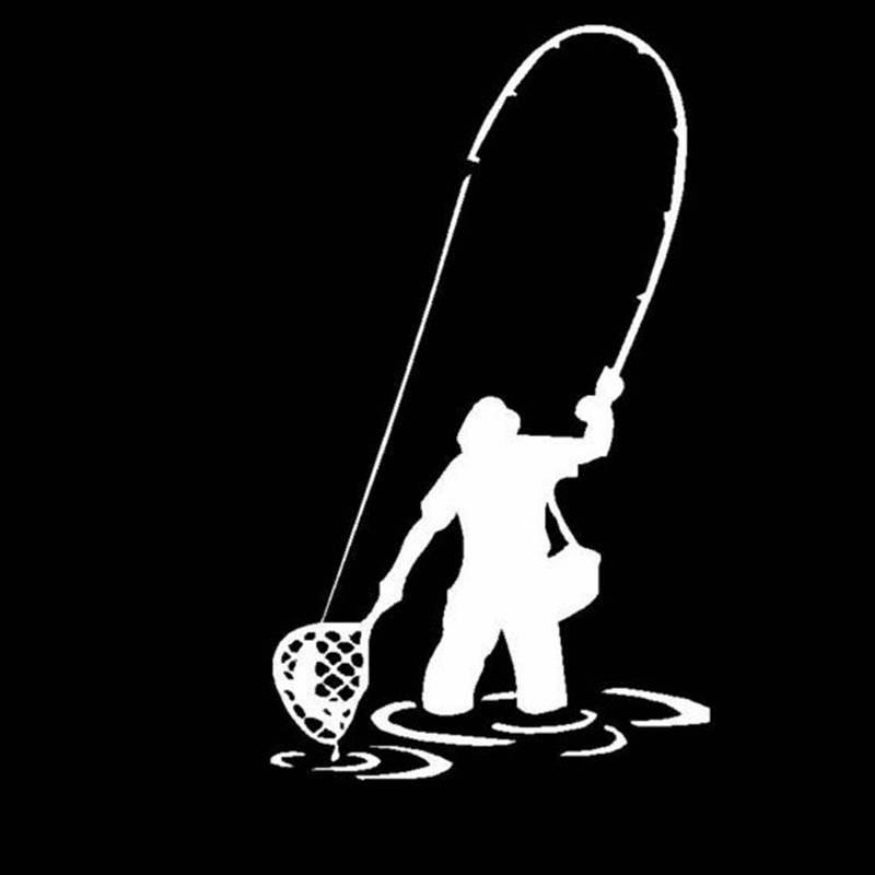 Pegatina Fisher Decal Angling Tackle Shop Hollow Sticker Fish Fishing Boat Car Window Vinyl Decal Funny Poster Motorcycle