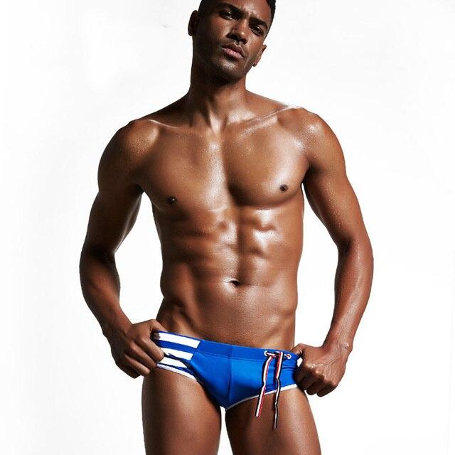 Летние купальники мужчин Мужские шорты для купания купальники Sexy полосой серфинга спортивные высокое качество пляжные трусы maillot de bain 2018