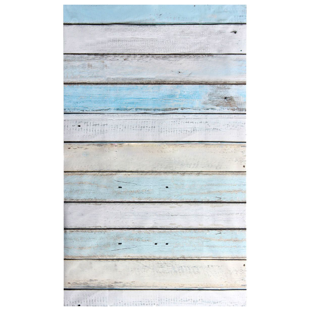 EDT 3x5ft Light Blue Wood Wall Floor Backdrop Backgrounds Studio Photography Props