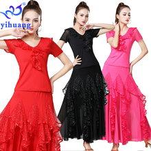 2019 New Dance Costume Standard Ballroom Practice Tango Modern Dancing Performance Suit Foxtrot Quickstep Party Wear