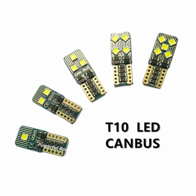 2 x CANBUS T10/w5w/194 3030 2-10SMD error free LED car clearance lights luggage compartment trunk reading bulb for Audi Q3 Q5