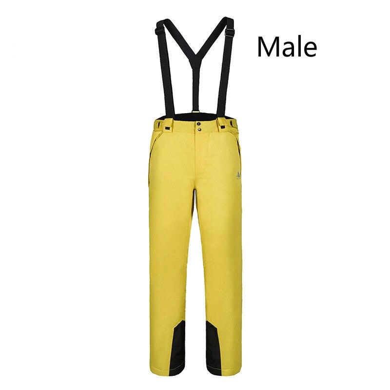 Pantalon de Ski pour hommes en plein air hiver coupe-vent imperméable à l'eau chaud simple Double planche pantalon de neige pour unisexe taille S-XXL