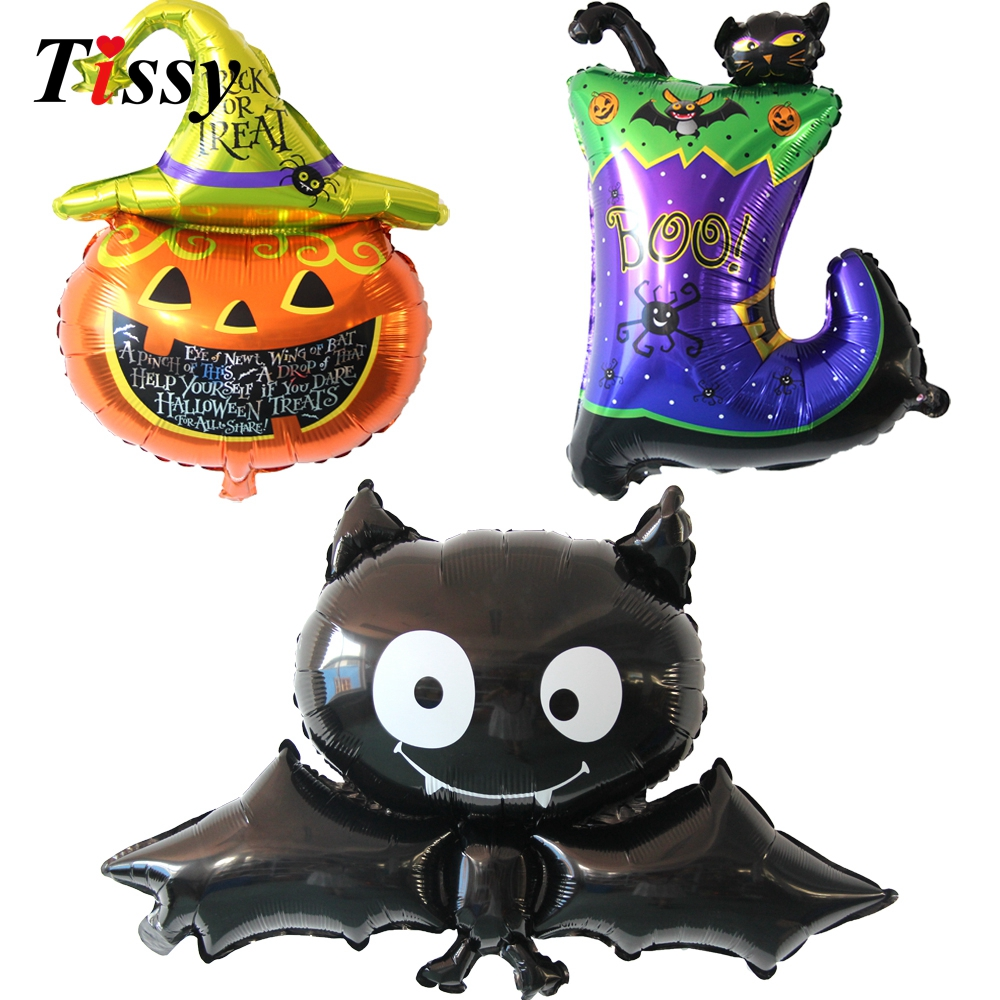 Party balloons 1pc cute halloween balloons large foil for Balloon decoration equipment