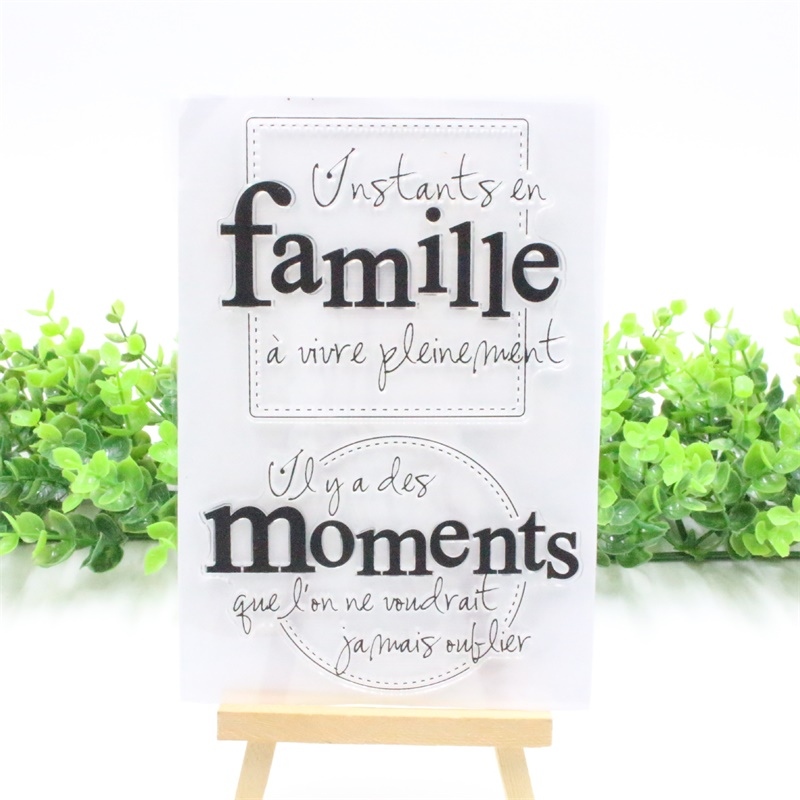 YPP CRAFT Famillle Transparent Clear Silicone Stamps for DIY Scrapbooking/Card Making/Kids Christmas Fun Decoration Supply