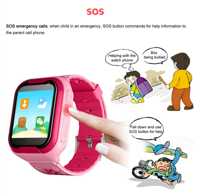 Kids GPS Tracker 4G Smart watch M05 LBS WIFI location SOS call Android 4.2 Pedometer Camera Children Smart watches M05 1PCS 9