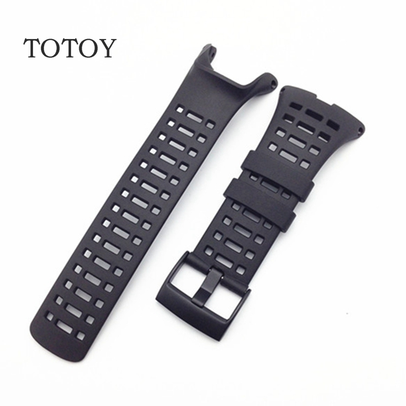TOTOY For SUUNTO AMBIT 3PEAK Black Rubber Strap, Men's Watch band,Sports Summer Strap 35MM Rubber Watch Band soft silicone watch band rubber watch strap waterproof watchband for suunto ambit 1 2 3 watch