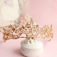 2017 barock krone gold leaf tairas libelle braut haarschmuck Prinzessin Braut kronen kopfschmuck frauen ornamente geschenk