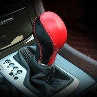 Leather corium gear head shift cover sticker for Infiniti Q50 QX50 QX70 EX FX E series DIY Hand sewn interior Accessory