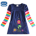 Girls dress children princess dress novatx girls clothes embroidery floral winter autumn o-neck kids dresses for girls H5802