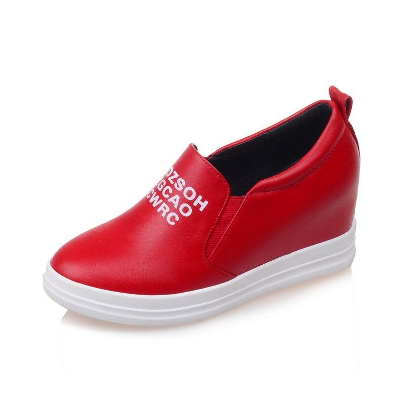Femme Chaussures Slip rouge Jeune Mode 43 Sarairis Confortable Femmes Sur Appartements Mocassins blanc De Noir 32 Taille Nouveautés Loisirs Grande w0U11qA7xF