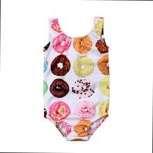 Summer Kids Baby Girls Toddler Donut Swimsuit Sleeveless Swimwear Bathing Suit Bikini Tankini 1-6T bikini baby 2pcs newborn ruffles clothes set kids baby girls floral tankini bikini suit swimsuit swimwear bathing swimming1 5y