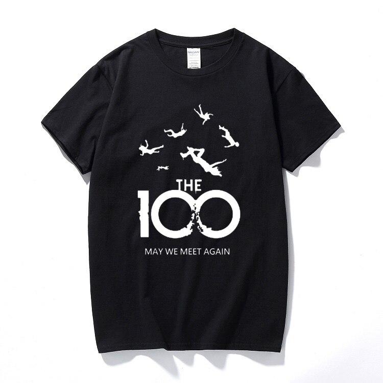 Summer Top Fashion   T  -  shirt   Men Women Unisex   T     shirts   100 TV Show May We Meet Again Harajuku Cotton Casual Short Sleeve Tshirt