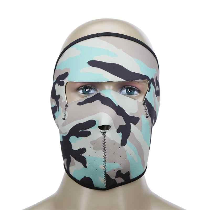 Ветрозащитная камуфляжная велосипедная маска для всего лица теплая Пыленепроницаемая уличная спортивная дышащая углеродистая сталь, тактический маска