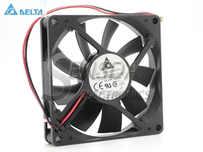 Original Delta AFB0812HB 8015 DC 12V 0 20A 2 line Server Inverter Cooling fan