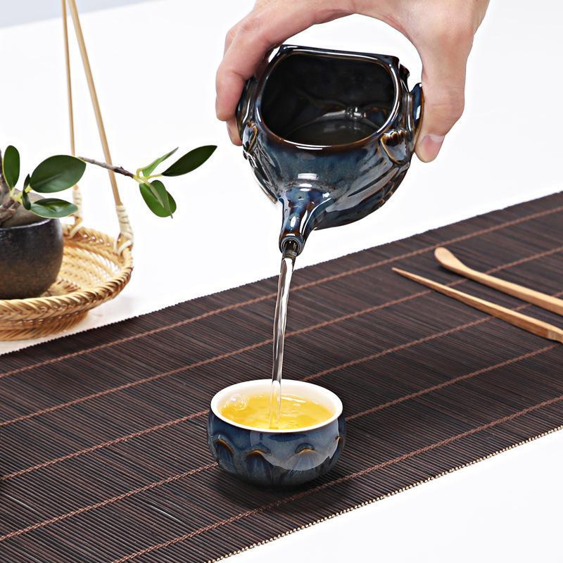 Traditional Lotus Celadon Kung Fu Tea Set Porcelain Teaware Set Chinese Tea Cup China Tea Sets Gaiwan Tea Set Wedding Gift in Teaware Sets from Home Garden