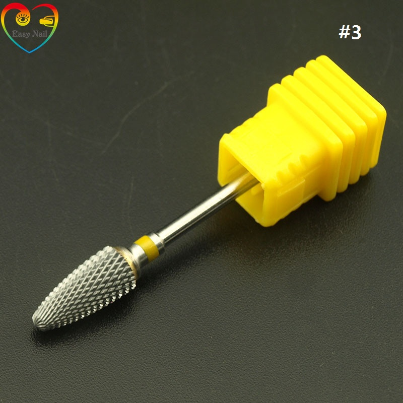 1PCS Runcit Pro Electric Gold Carbide seni Nail Care Bor Alat Aksesori Bit File tungsten steel Extra Fine