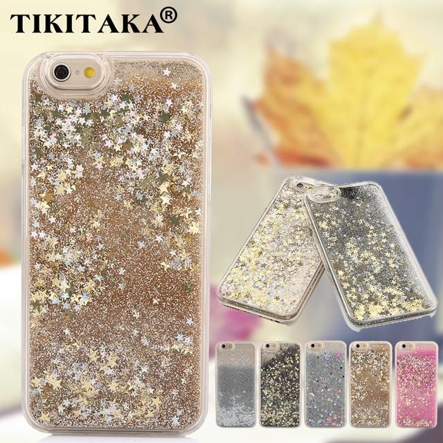 best service 6e7c0 94db3 US $2.51  Luxury Twinkle Glitter Stars Flowing Water Liquid Case For iPhone  5 5S SE 6 6S 4.7