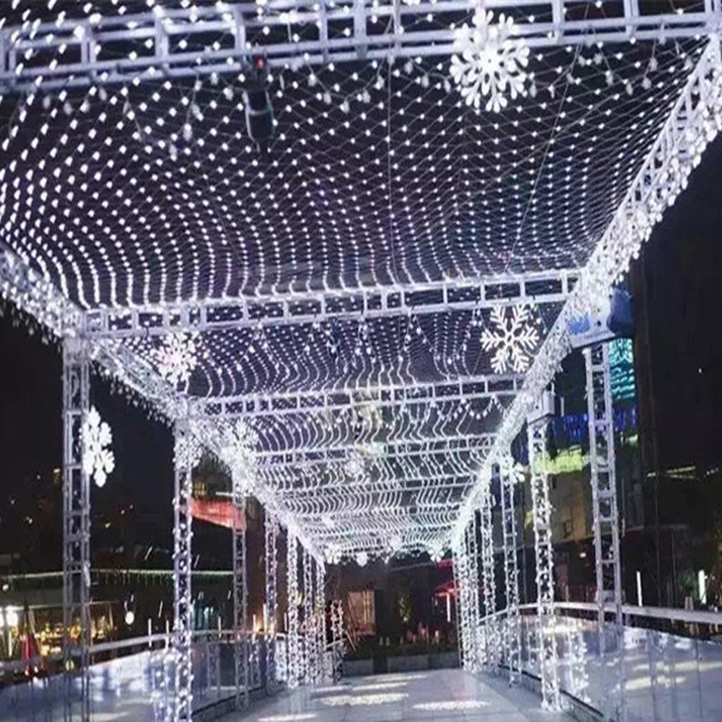 xmas led net lights multi color 192 led web fairy lights 3m x 2m led string lamp decoration 220v eu plug free ship 2setlot in led string from lights