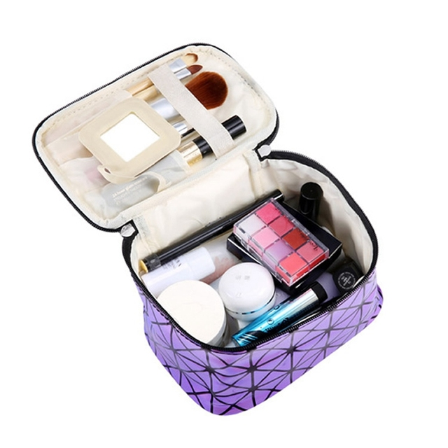 Cosmetic PU Leather Make Up Toiletry Kit Bag 1