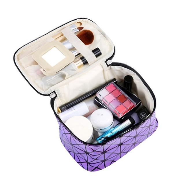 Cosmetic Bag Women Fashion PU Leather Travel Make Up Necessaries Organizer