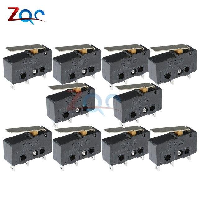 10 STKS Toetsschakelaars op off KW11-3Z 5A 250 V Microschakelaar 3PIN Gesp Nieuwe