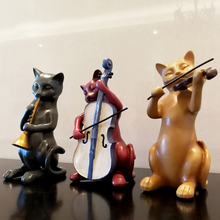 Art Creative Cute Animal resin cat creative miniature Figurine Craft teraryum fairy garden miniatures Mini home decor