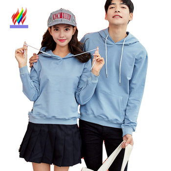 Lovers Sweatshirts With A Hood Matching Couple Clothes Autumn Winter Tops Long Sleeve Cute Sweet Pink Blue Korean Couple Hoodies girl