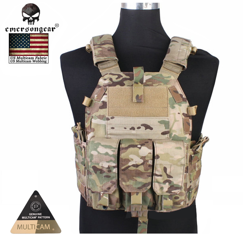 Emersongear Molle vest Hunting Game Tactical Vest Airsoft Combat 094K M4 Pouch Vest Gear EM7356C AOR2 airsoft adults cs field game skeleton warrior skull paintball mask
