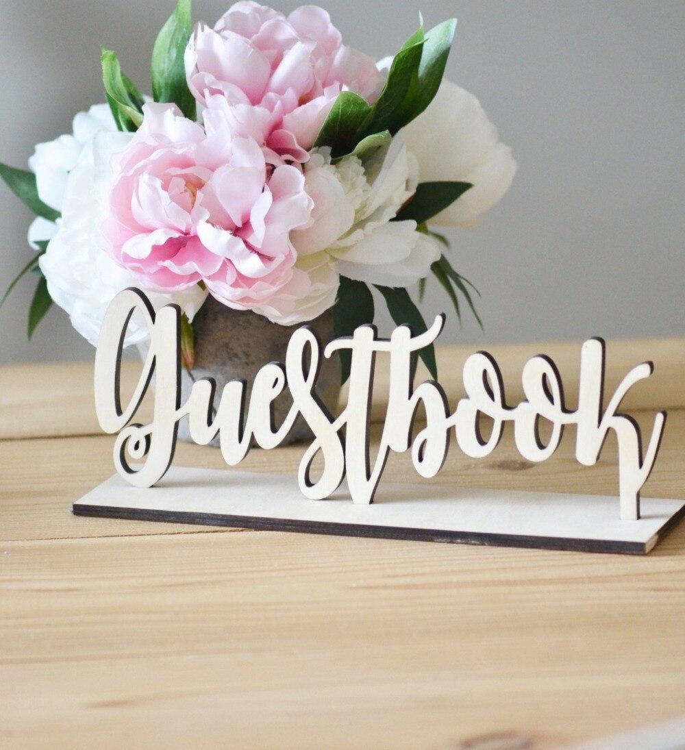 Realistisch Gastenboek Tafel Teken | | Clear Bruiloft Decoraties Gastenboek Clear Acryl Gegraveerd Tafel Teken Rustieke Boho Minimalistische