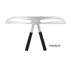 Image 5 - Microblading الحاجب التوازن حاكم المعادن الوشم تشكيل Stencil تجميل دائم الفرجار الحاجب حاكم