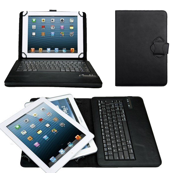 Universal Removable Wireless Bluetooth ABS Keyboard With Leather Case Stand For Toshiba Excite X10 LE AT300SE