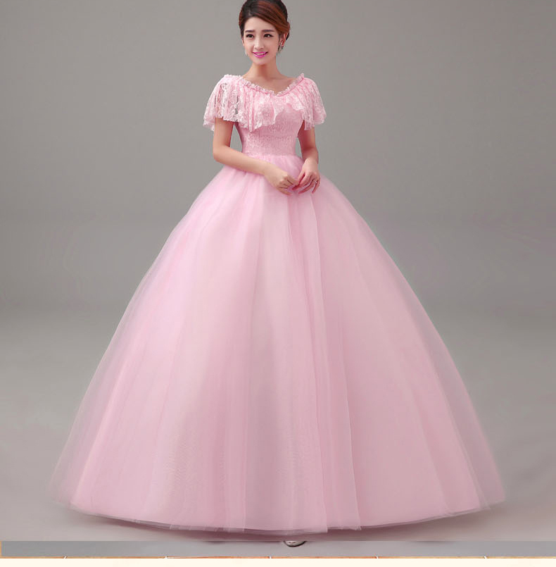 Us 980 Free Ship Ruffled Slash Collar Light Pink Lace Long Medieval Dress Renaissance Princess Europe Ball Gown Victoria Belle Ball In Movie Tv