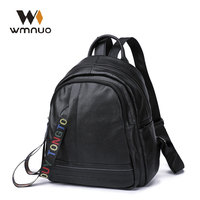 Wmnuo 2019 Backpacks Women Genuine Cow Leather Female Bagpack Mochila Girl School Bags Fashion Casual Travel Bags High Quality