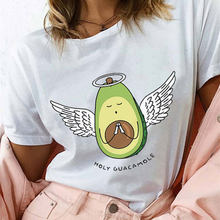 Summer Harajuku Kawaii Avocado Vegan Tshirt Casual Angel Avocado Graphic Tops Holy Guacamole Graphic Tees Women(China)