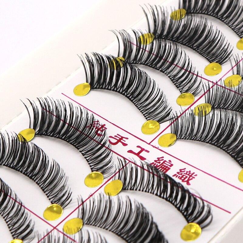 20Pair Transparent False Eyelashes Thick Natural Fake Eye Lashes Wimpers Professional Makeup Beauty Tips Long False Eye Lashes