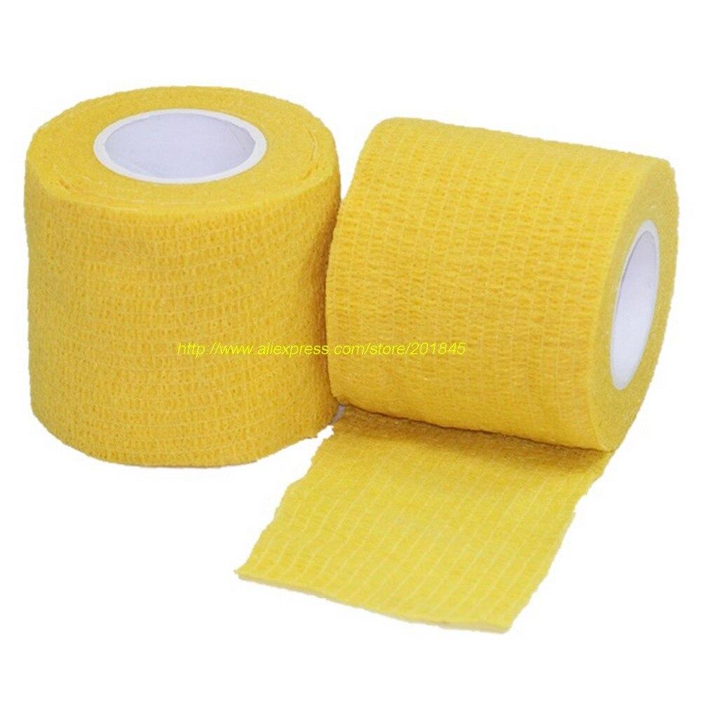 24pcs/Lot Self Adhesive checkerboard 5cm x 4.5m elastic Nonwoven Cohesive Bandage  Adherent Wrap sports protection